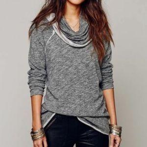 FP Beach color block cowl pullover sweatshirt